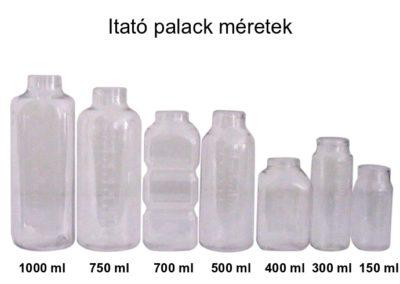 Itató palack méretek
