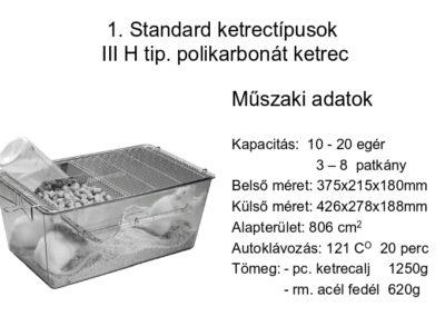 III. H tip. polikarbonát ketrec
